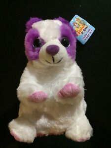 New With Tag -  Switch a Rooz Plush - Pink / White Puppy - Hugs / Kisses - 20cm
