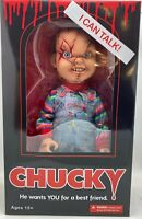 "Chucky Action Figure 15"" Childs Play Talking SCARRED Chucky Doll Mezco Toys"