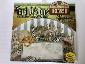 Yard DeSigns **DOWN BY THE SEASHORE** Magnetic Yard Art Address Marker BRAND NEW