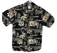 RJC Mens Hawaiian Shirt Size M Tropical Leaves Aloha Vintage