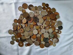 Large collectable job lot of Old coins, Mostly Africa and Commonwealth QV onward