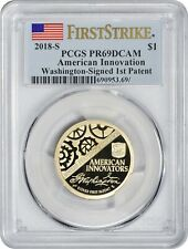 2018-S American Innovation Washington-Signed 1st Patent FIRST STRIKE PCGS PR69DC