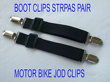 Boot Strap Pant Clips Adjustable Elastic Motorcycle Bike Stirrups Jod Clips 2pcs
