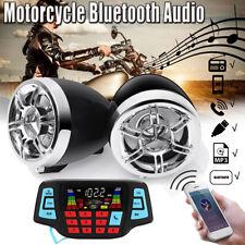 3'' bluetooth Motorcycle Handlebar Audio B SD FM Radio MP3 Player Speakers