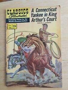 comic book Classics Illustrated #24 A Connecticut Yankee In King Arthur's Court