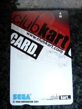 SEGA MAGNETIC CARD FOR CLUB KART (20sheets)