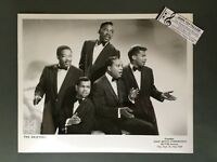 Original 1950s-60s 8 x 10 Publicity Photo Vocal Group Doo Wop R&R The Drifters 2