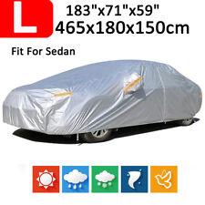 L Size Full Car Cover Outdoor/Indoor Dust Wind Waterproof Zipper Design 190T US