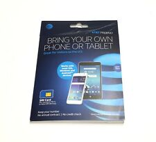 At&T Go Phone Prepaid Sim Card Kit f/Standard Micro Nano Triple Sealed Ua11-5/25