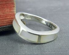 TMA Sterling Silver Inlaid Mother of Pearl Ring - Size 6