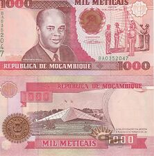 Mozambique P135, 1,000 Meticais, flag cerimony/ star monument, UNC see UV