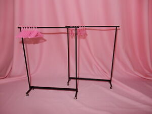 RARE Pair of Barbie Silkstone Fashion Models Rolling Clothing Racks