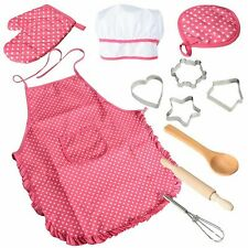TOYS FOR GIRLS 3 6 Years Old Kids Pretend Play Chef Dress Christmas Gift 11 Pcs