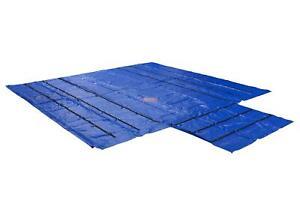 Trucking Flatbed Trailer Tarps Heavy Duty 18oz Lumber Tarp 24x27 (8' Drop) - Blu