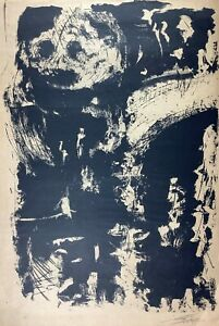 Lithograph by Antonio Canet. Untitled, 1964. Original signed. Numbered (4/4)