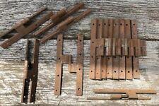 Set Of 12 Pair Of Hinge Iron Furniture Hardware Store Door Antique 19th Century