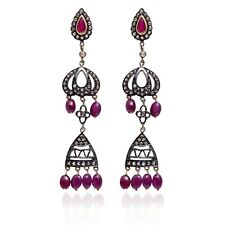Gold Diamond Pave Indian Handmade Earrings New listing