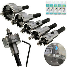 5 x HSS Drill Bit Hole Saw Tooth Set Stainless Steel Metal Alloy Cutter 16-30mm