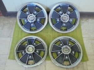 """67 68 69 70 71 72 Chevrolet Mag Hub Caps 14"""" Set of 4 Wheel Covers Chevy Hubcaps"""