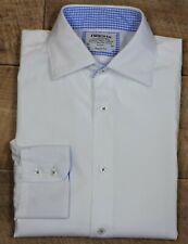 "TM Lewin ~ 16/36"" ~ white cotton, button cuff, regular fit, business shirt"