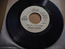 MICHAEL JACKSON DON'T STOP TIL YOU GET ENOUGH VINYL 45RPM SINGLE PROMO