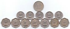 13x Indian 50, 25, 10 Paise Coins India Republic high grade 1959-1973