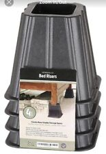 Greenco 5.25� Super Strong Bed and Furniture Riser Set of 4, Black