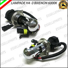 COPPIA LAMPADE BIXENON MOUVING H4-3 H4 6000K LUCE BIANCA PER RICAMBIO KIT XENON