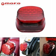Red LED Low Profile Taillights Brake Lamp For Harley Touring Electra Glide FLHT