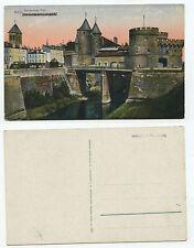 10132 - Metz - Deutsches Tor - französischer Text geschwärzt- alte Ansichtskarte