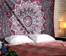 Twin Hippie Indian Tapestry Floral Mandala Throw Boho Bedspread Wall Hanging