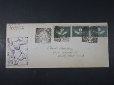 1941 AIR MAIL PAN AMERICAN AIRWAYS SYSTEM BRAZIL ENVELOPE FIRST COVER STAMP