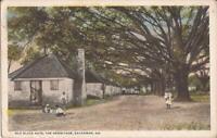 Savannah, GEORGIA - Hermitage - Old Slave Huts - African-American Children