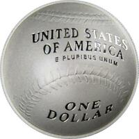 2014 P $1 Baseball Hall of Fame Commemorative Silver Dollar US Coin Choice Proof