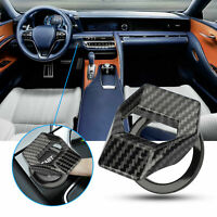 Carbon Fiber Car Interior Engine Start Stop Push Button Switch Cover Accessories