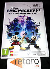 EPIC MICKEY 2 THE POWER OF TWO NINTENDO WII PAL Español NUEVO Precintado SEALED