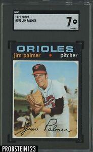 1971 Topps #570 Jim Palmer Baltimore Orioles HOF SGC 7 NM