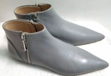 ZARA GREY AUTHENTIC LEATHER FLAT POINTED CHELSEA ANKLE BOOTS RARE  new