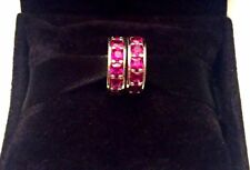 2 Authentic Pandora Ruby Red Eternity Spacers #791724SRU W/ Pandora TAG & BOX
