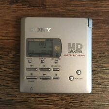 Sony MZ-R55 Silver Minidisc Player/Recorder Tested Working MD Recording Walkman
