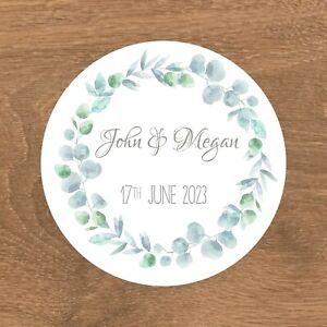 Personalised Wedding Stickers Favour Labels (E-000)