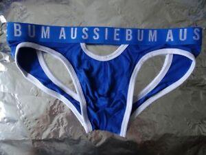 Underwear Aussiebum Riot Jock Blau Weiß - Größe L - DER HINGUCKER !!!