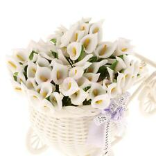 144Pcs Mini Foam Calla Lily Artificial Flower Bridal Wedding DIY Decor White
