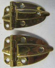 Pair Solid Brass Hoosier Style Cabinet Hinges