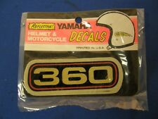 2 New Reflective Yamaha 360 Decals A345
