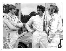 Steve McQueen/Derek Bell/Brian Redman 1970 LeMans Drivers Meeting Car Poster!