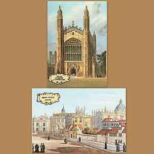 Victorian Postcard Broad Street Oxford Cambridge Kings College University END