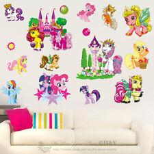 My Little Pony Castle Wall Stickers For Girl Nursery Decor Vinyl Decal Art Mural