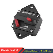 48V 100A Circuit Breaker Fuse Inverter Manual Reset+Button Switch for Car Truck