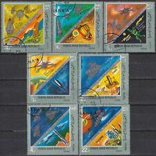 Yemen A.R. 1969 used Mi.921/27 Weltraum Space Raumfahrt Astronautics Zukunft